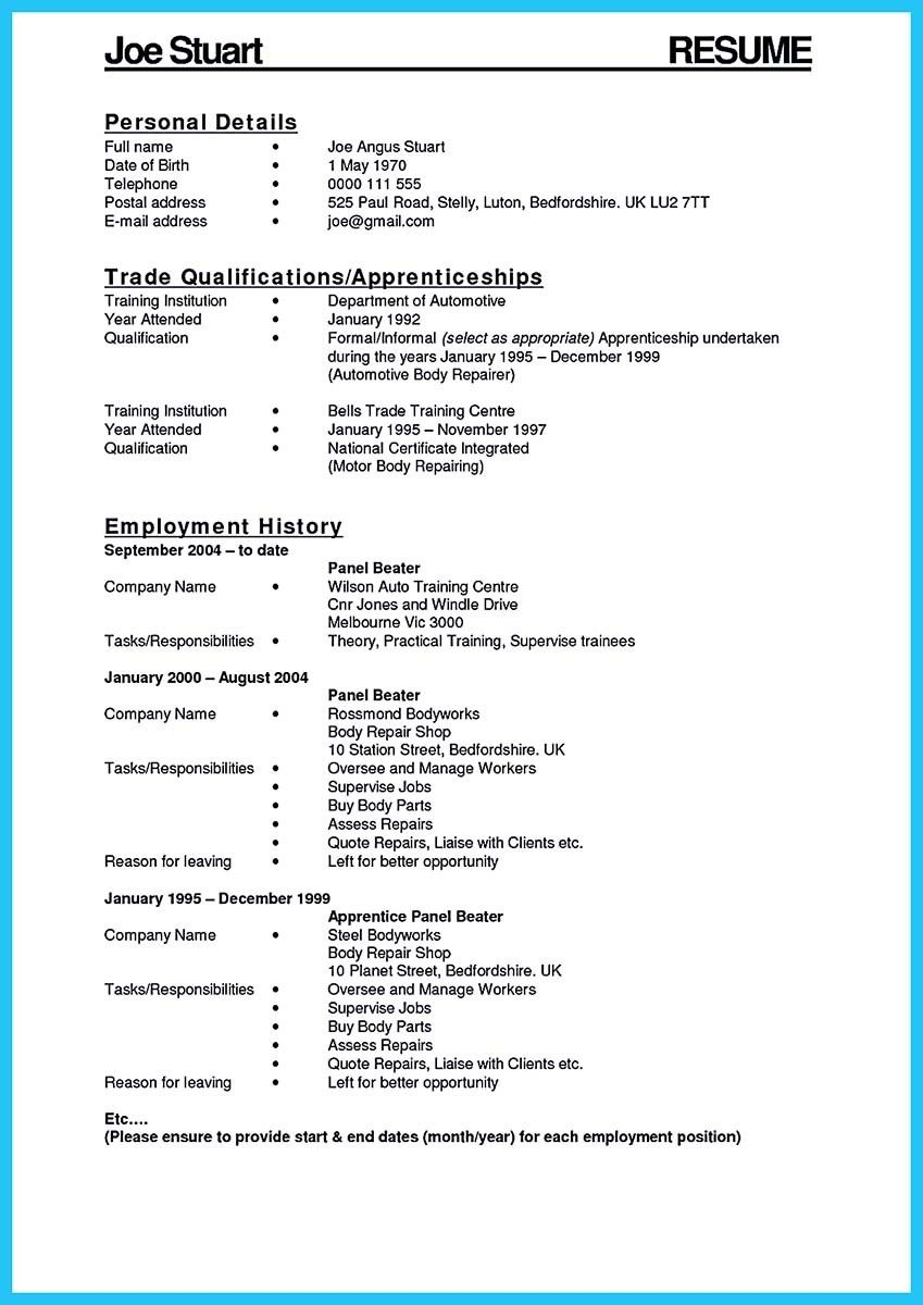 awesome delivering your credentials effectively on auto mechanic resume - Resume For Auto Mechanic
