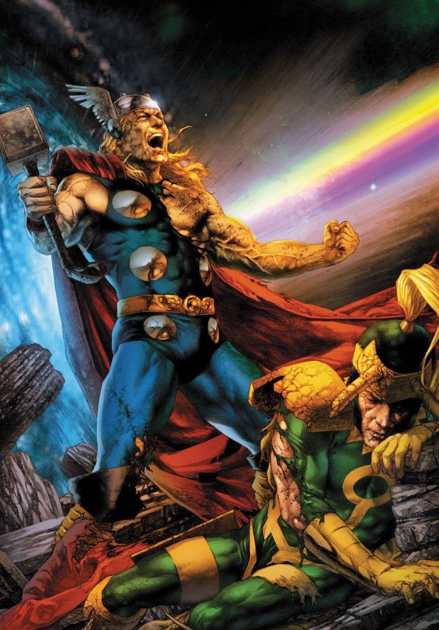 "Thor Vs Loki by Jay Anacleto ""Now say uncle!!"""