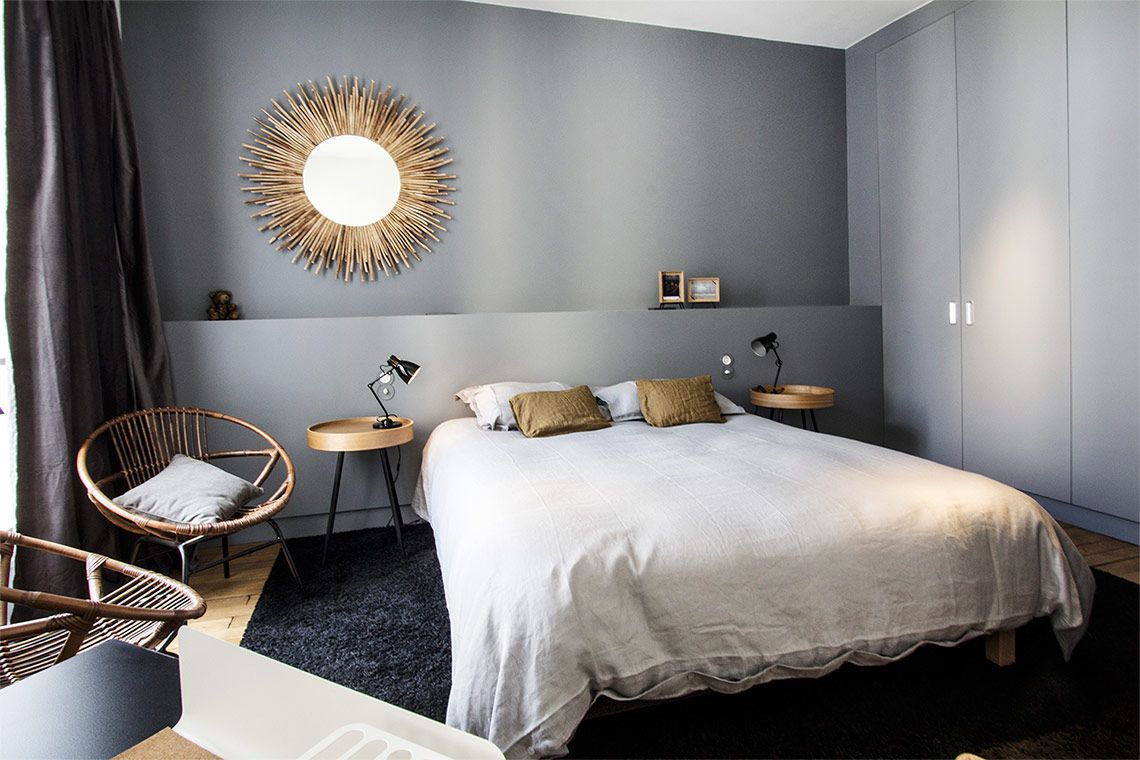 un bleu gris pour la chambre d co couleur http www m. Black Bedroom Furniture Sets. Home Design Ideas