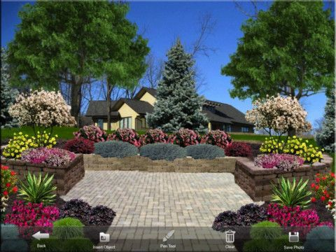 iScape app for landscaping, flower design, holiday