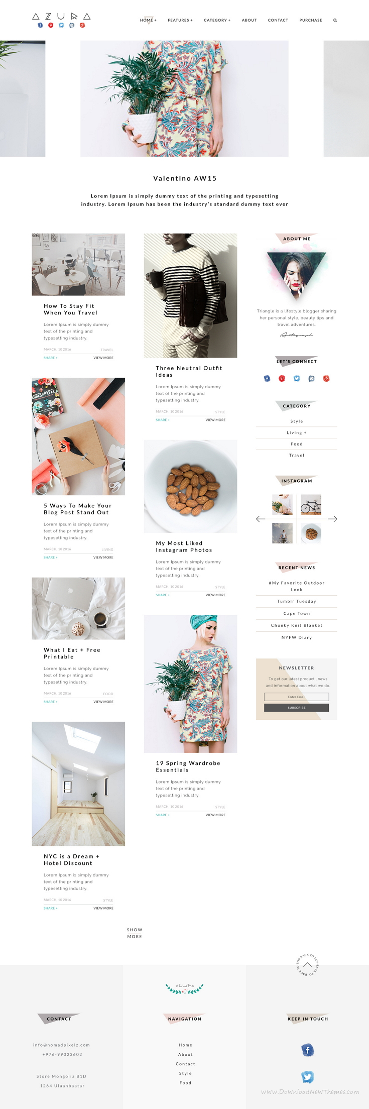 Azura is beautiful and clean & minimal #blog #PSD #template for people who tell stories.