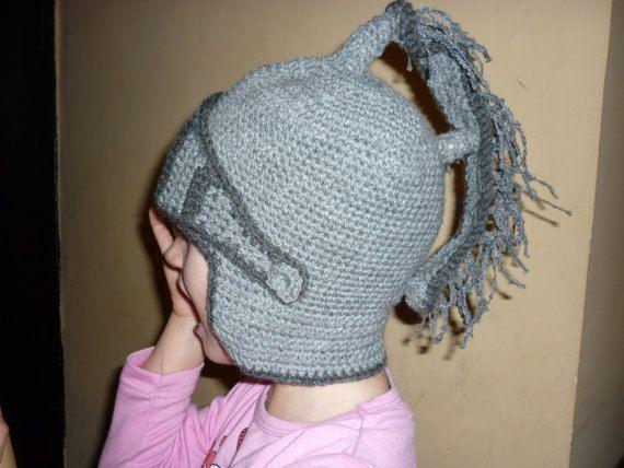 PATTERN Knight Helmet Hat Crochet Beanie Hat Handmade ...