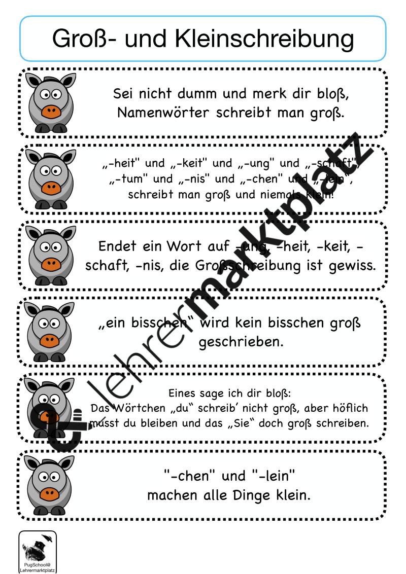Richtig schreiben mit Eselsbrücken – Deutsch | Pinterest ...