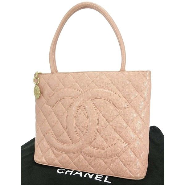 5d3c0d99b904 Pre-owned Chanel Auth Pink Quilted Caviar Leather Cc Medallion Tote... (