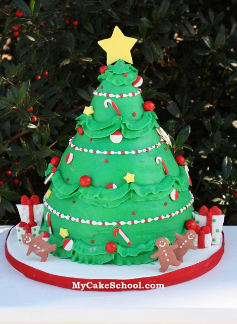 Christmas Tree Cake Video Tutorial Brylee S 5th Birthday