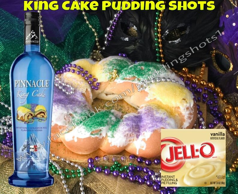 King Cake Jello Shot Recipe: King Cake Pudding Shots. See Full Recipe And More On Www