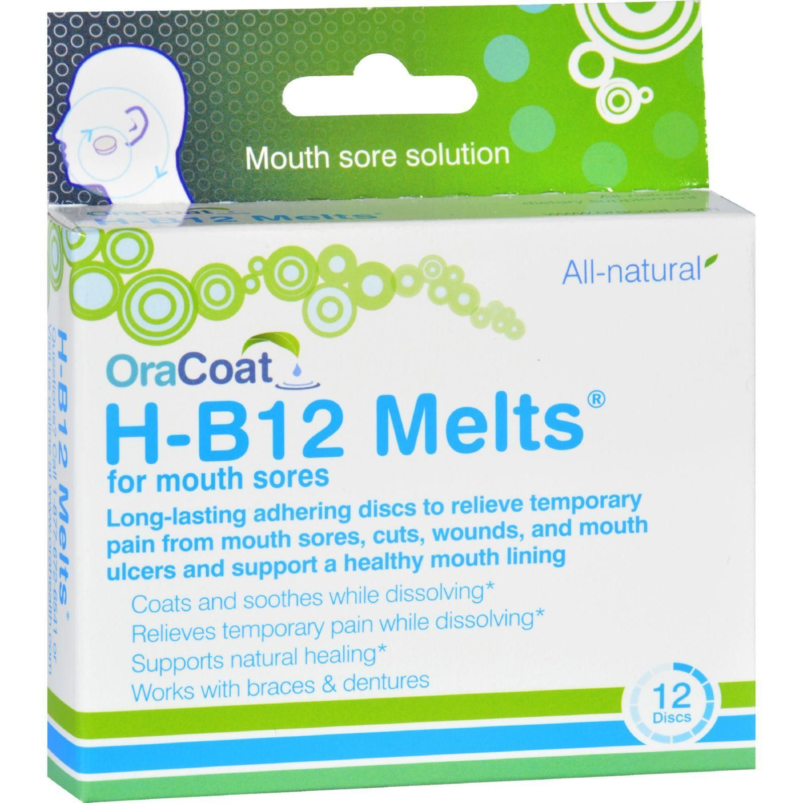 Oracoat H B12 Melts - Mouth Sores - 12 Count