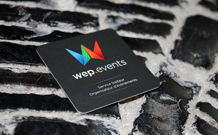 Nouvelles cartes de visites de Wep Events