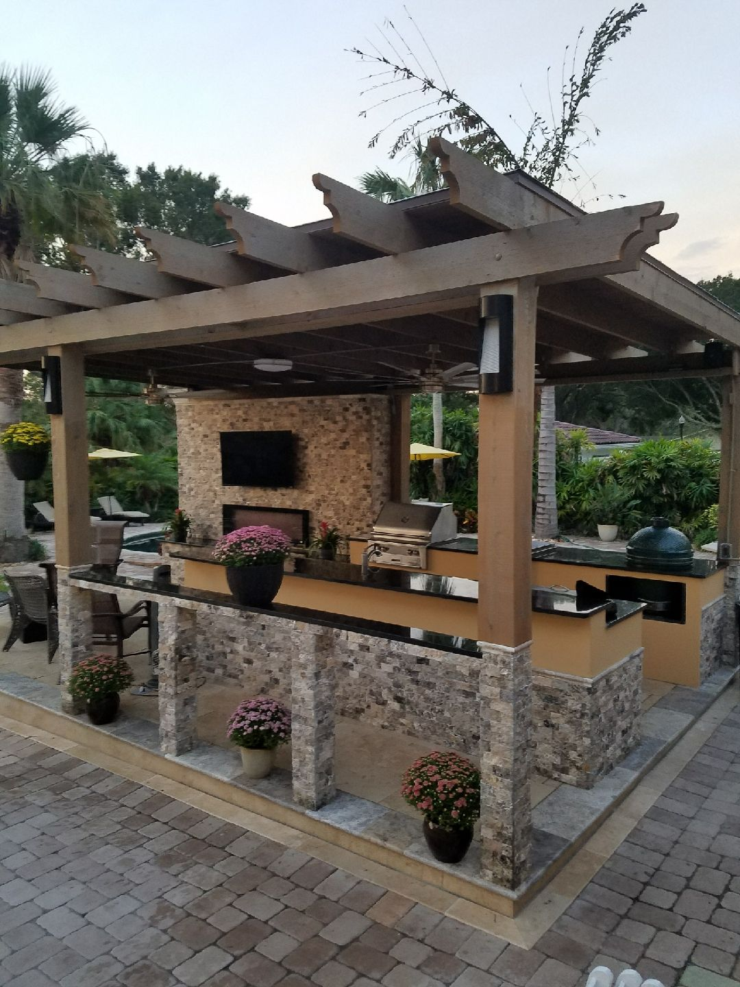 Outdoor Kitchen Frame Made By Dewitt Business Llc We Can Help You To Build Your Outdoor Kitchen Drea Outdoor Kitchen Decor Outdoor Kitchen Patio Patio Design