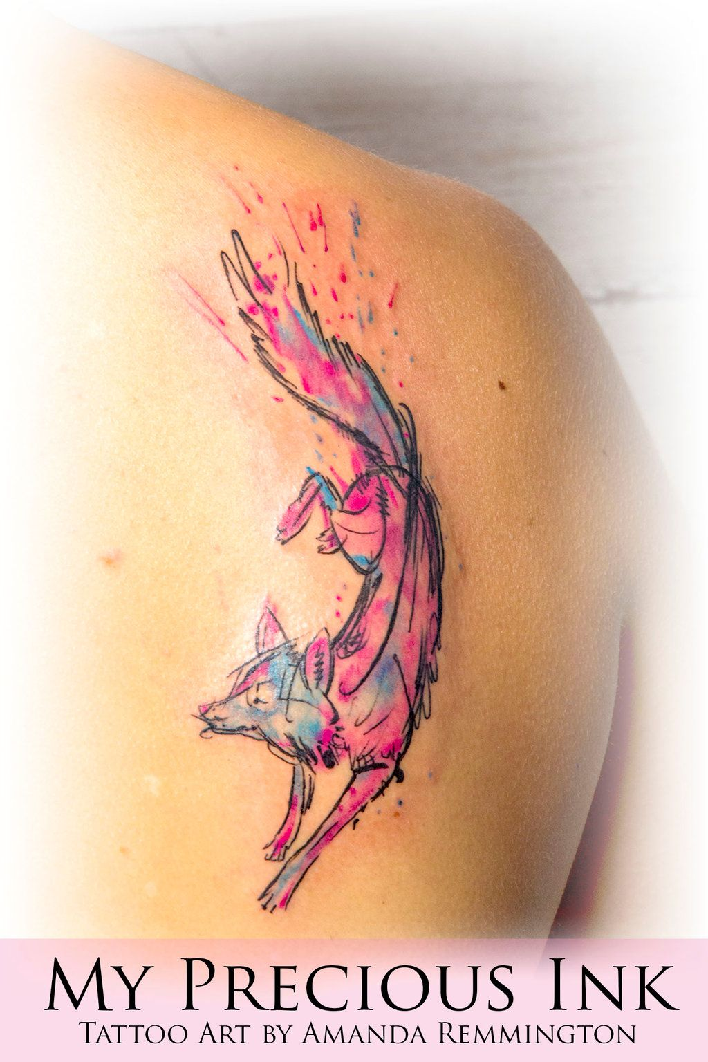 Abstract Fox Art Abstract Fox Tattoo Watercolor Abstract Fox Tattoo By
