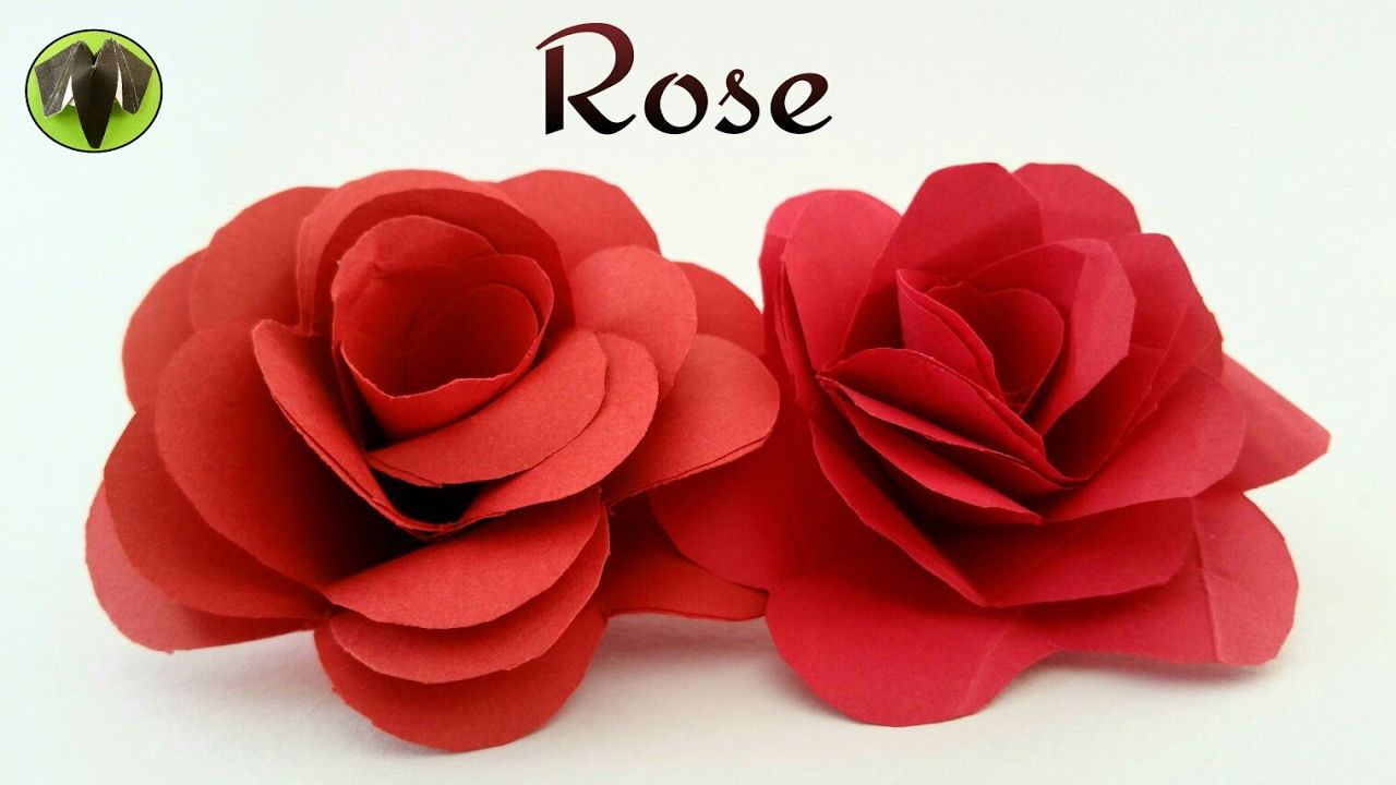 How to make a easy realistic paper valentine rose paper how to make a easy realistic paper valentine rose paper crafts tutorial jeuxipadfo Choice Image
