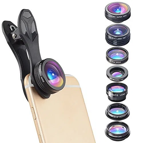 Clever Clips 7 In 1 Phone Camera Lens Kit For Iphone 7 6 6s 6s Plus Samsung Galaxy Best Offer Electronics And Computers Shop Ineedthebestoffer Com Zoom Lens For Iphone Phone Camera Lens Camera Lens
