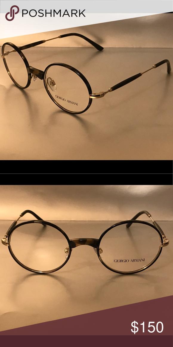 1d0656cbc36b Authentic Giorgio Armani Eyeglass Frames Gold Black (Blue Havana) Giorgio  Armani Accessories Glasses