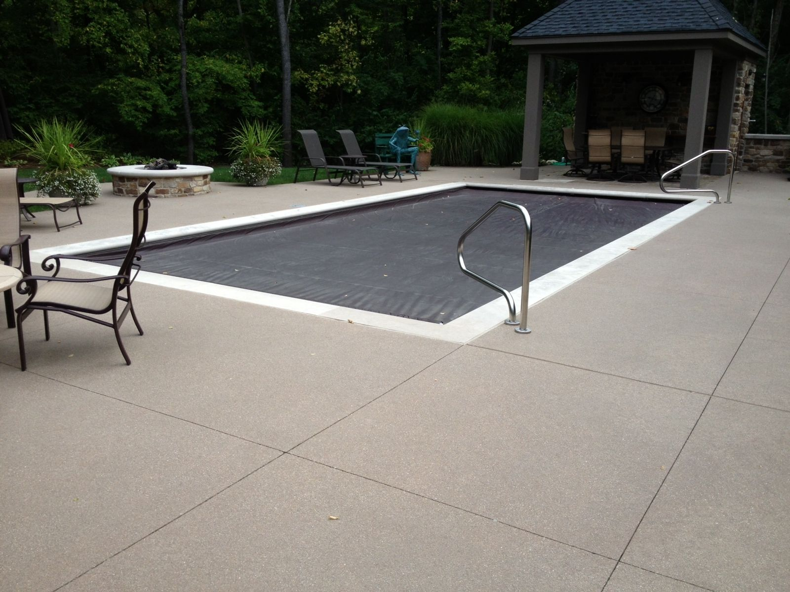 Beautiful acid wash sand matrix pool deck decorative for Acid wash concrete patio