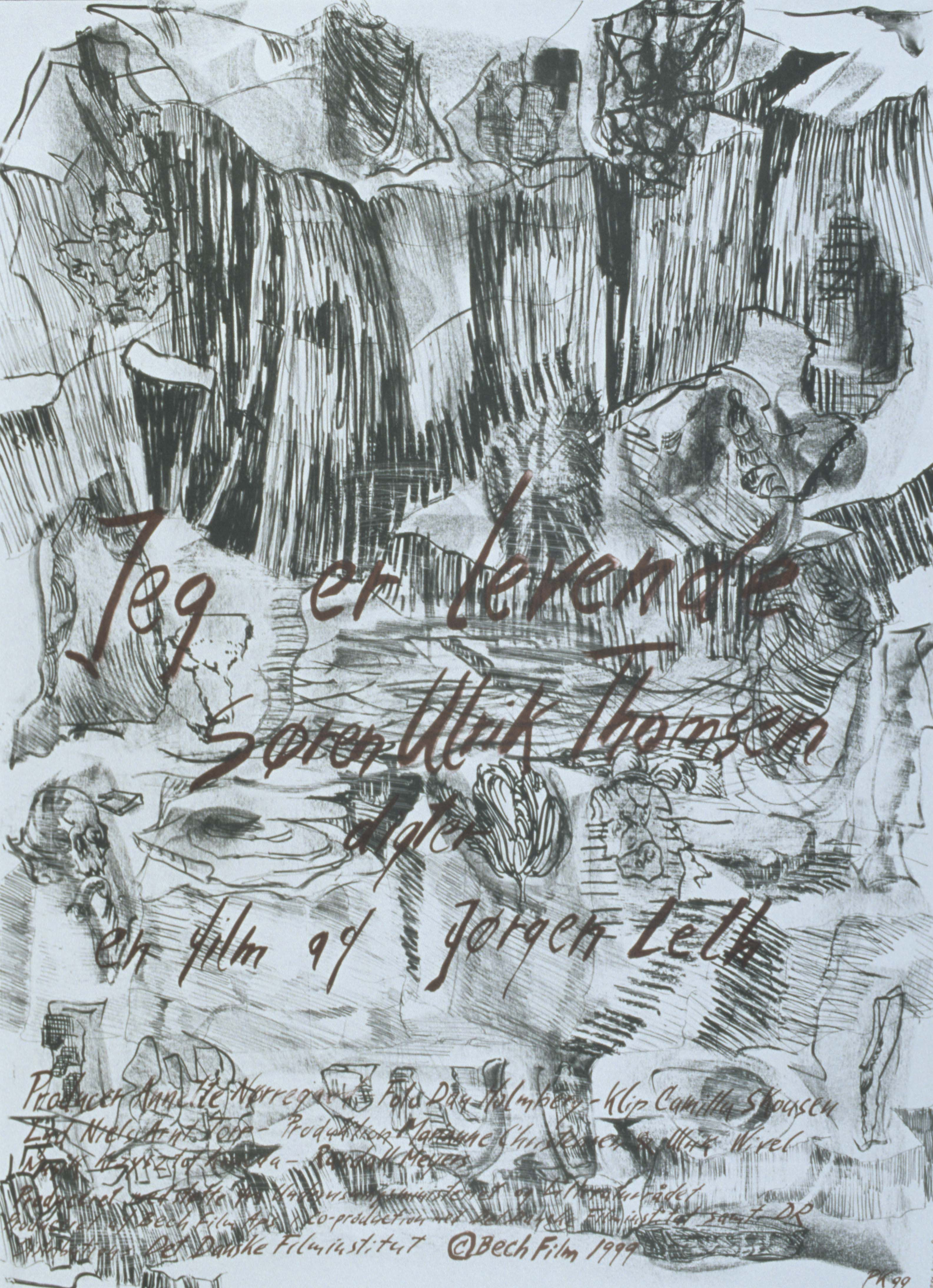 Jeg er levende - Søren Ulrik Thomsen, digter   (Jørgen Leth, DK, 1999) Poster art: unknown. Poster still: unknown. Portrait of the Danish poet Søren Ulrik Thomsen. http://www.dfi.dk/faktaomfilm/film/da/27170.aspx?id=27170