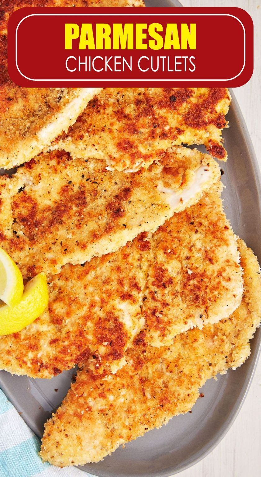 Easy Parmesan Chicken Cutlets Recipe  Skillet Chicken Dinners   Easy Parmesan Chicken Cutlets Recipe  Skillet Chicken Dinners Chicken Einfache Parmesan Hähnchen Schn...