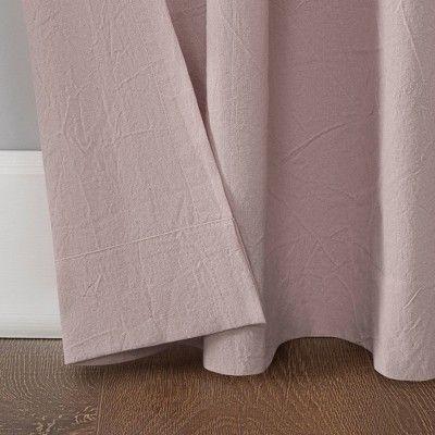 52 X63 Washed Cotton Twist Tab Light Filtering Curtain Pink Archaeo Light Filter Curtains Cotton