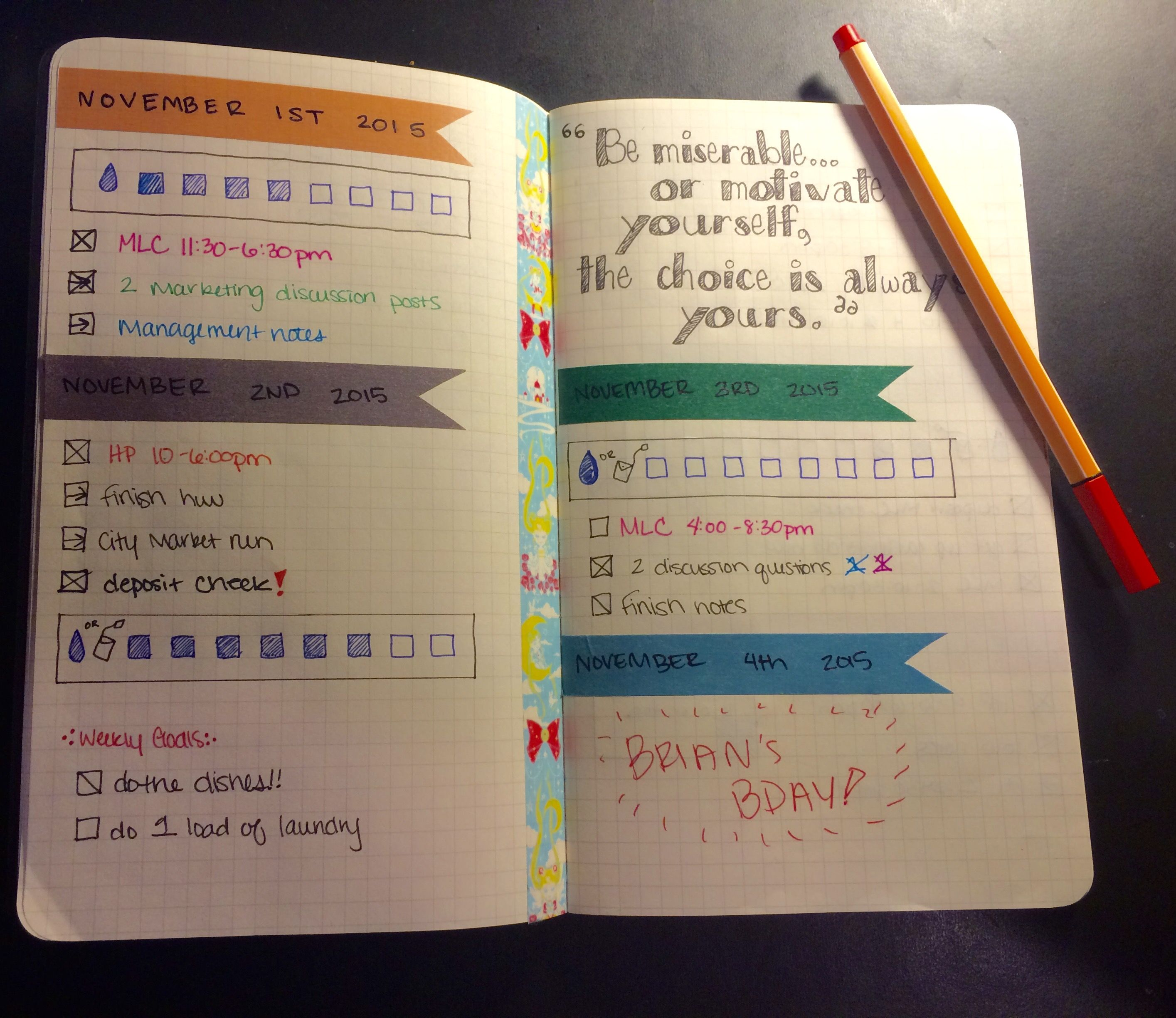 how to use washi tape in bullet journal google search