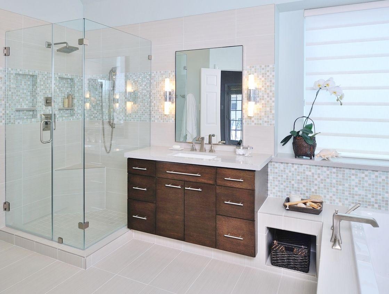 CABANA: carry stone mosaic across vanity wall Bathroom ...