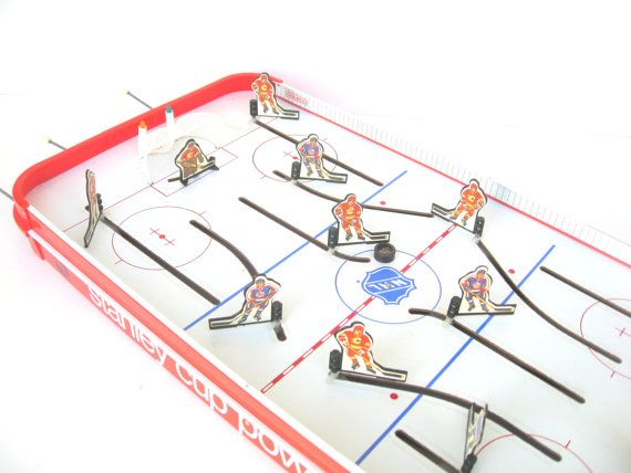 Vintage 1980s Table Top Hockey Game By Rusttradingpost On Etsy Hockey Games Hockey Old Toys