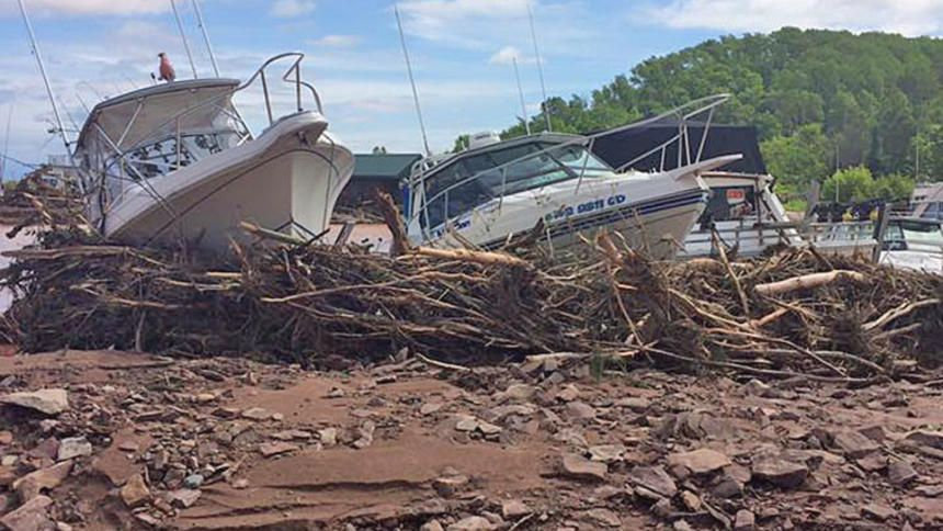 Flooding causes major damage at Saxon Harbor; one fatality