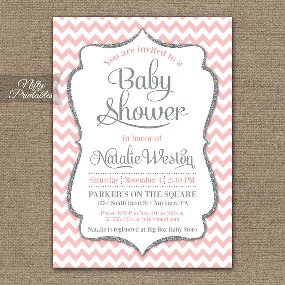Instant Download Pink Damask Baby Shower Invitations Editable Pdf