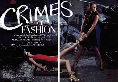 Law Order Crimes Of Fashion Harpers Bazaar Photo Shoot Law And Order Crime It Cast