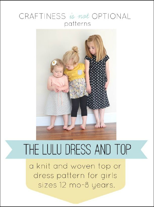 lulu dress and top pattern by craftiness is not optional | Sewing ...