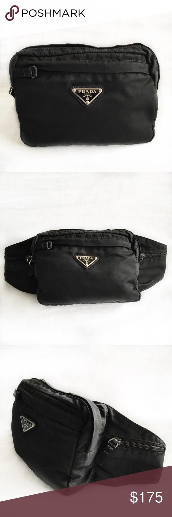 44b77ca9c8e4 Prada Tessuto Montagne Waist Bag | Closure and Zip