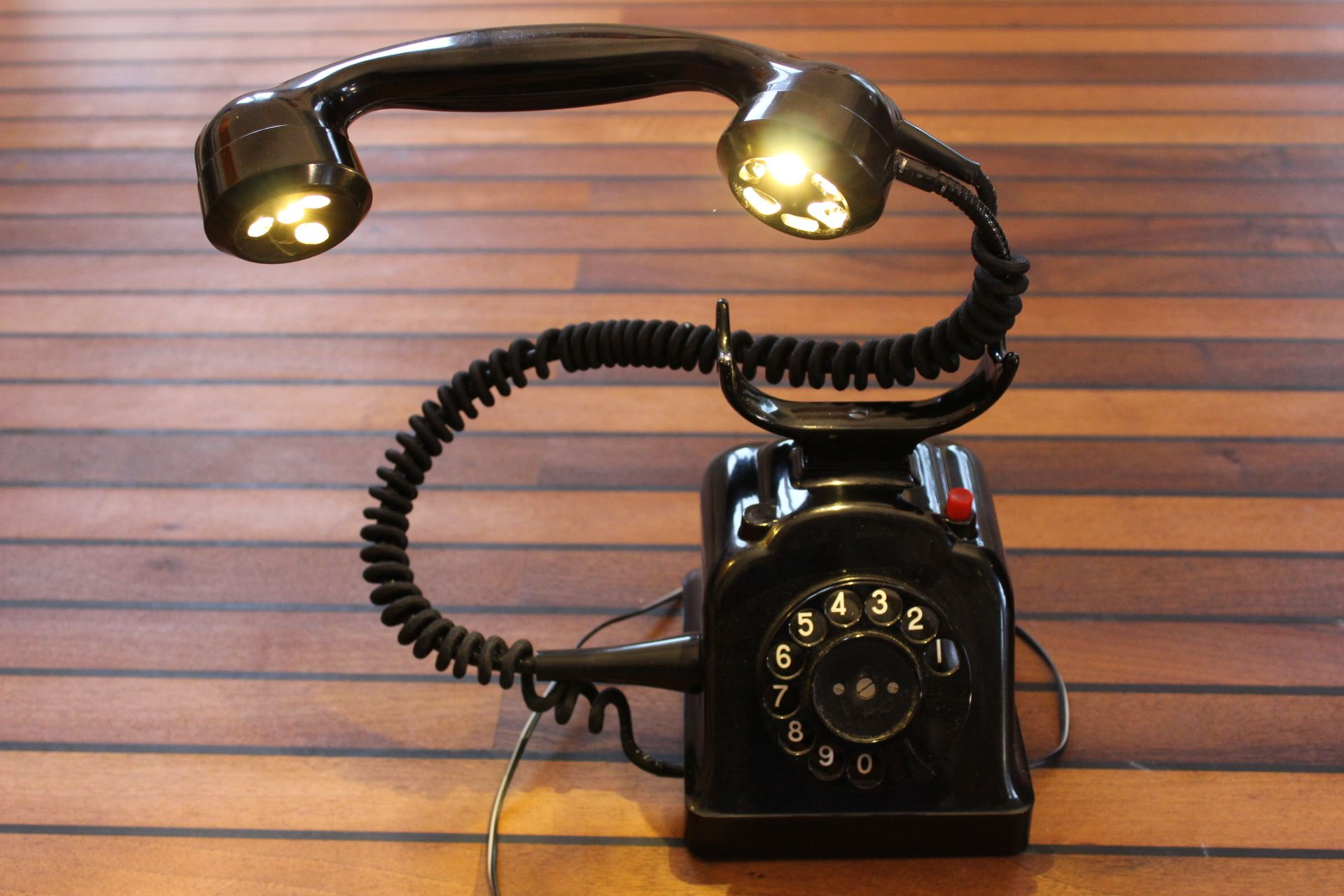 Lampe Leuchte Telefon Diy Upcycle Recycle Selber Gebaute