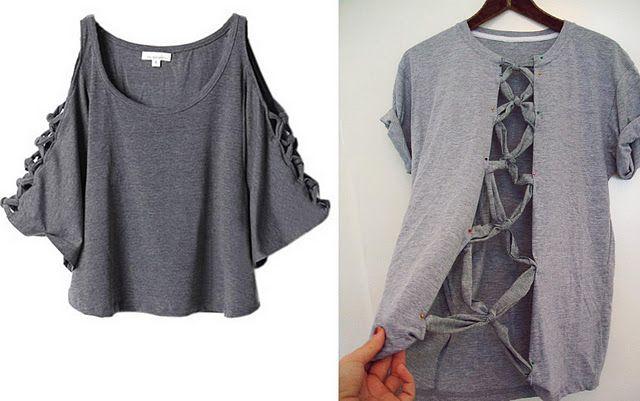 DIY T shirt remake | Kläder, Klädsömnad och Sy kläder