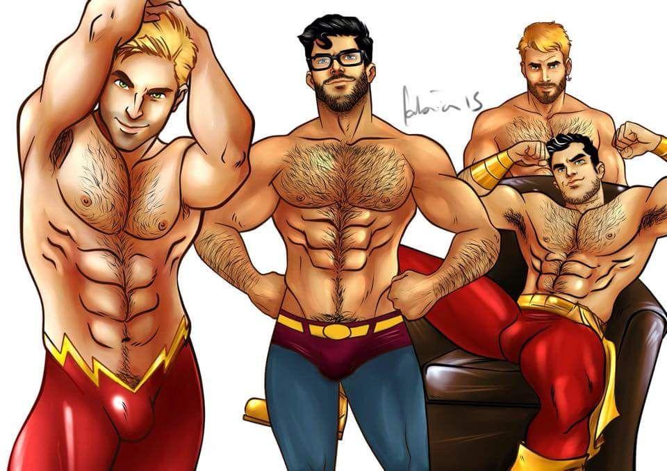Nude men superheroes