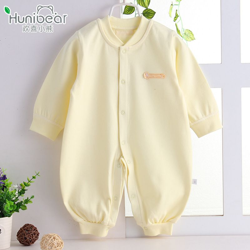 aa47ad5d1aff New born 2017 Baby Girl Boy Clothes Long Sleeves Spring Autumn Baby rompers  1-12 Months Jumpsuit Newborn Clothing Infant toddler