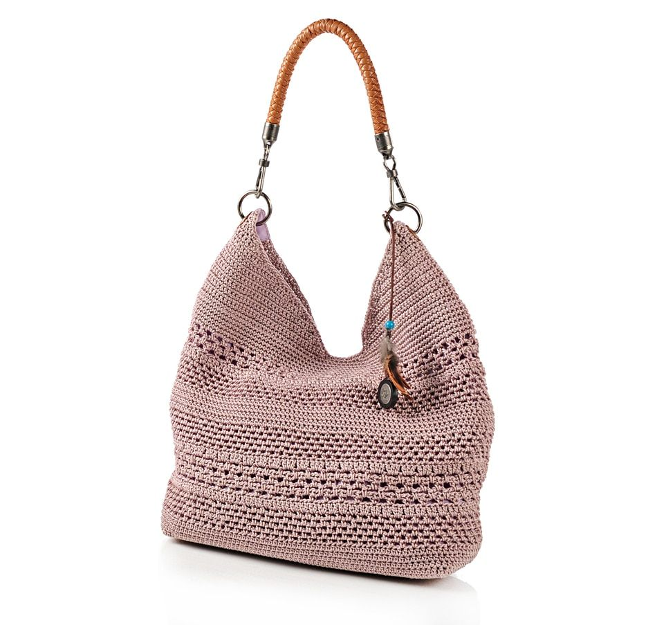 Buy The Sak Crochet Knit Bucket Bag with Leather Shoulder Strap ...