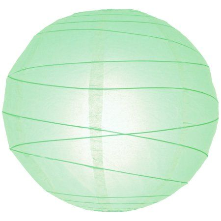 "Paper Lanterns Walmart Best Buy 20"" Cool Mint Green Round Paper Lantern Crisscross Ribbing Inspiration Design"