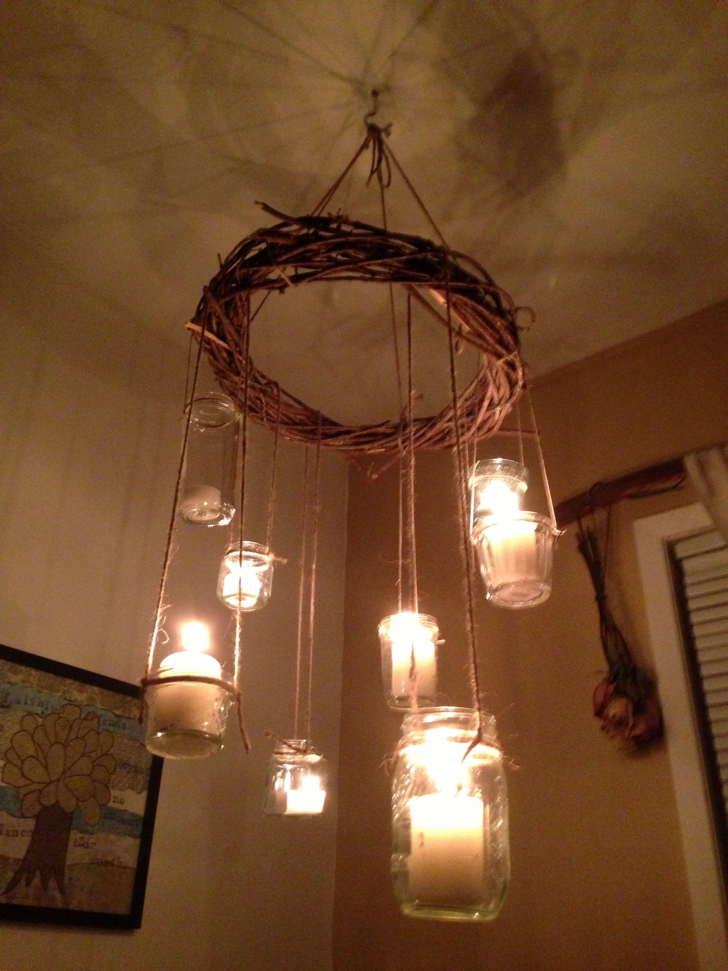 Handmade rustic chandelier | Gettin Handsy | Pinterest ...