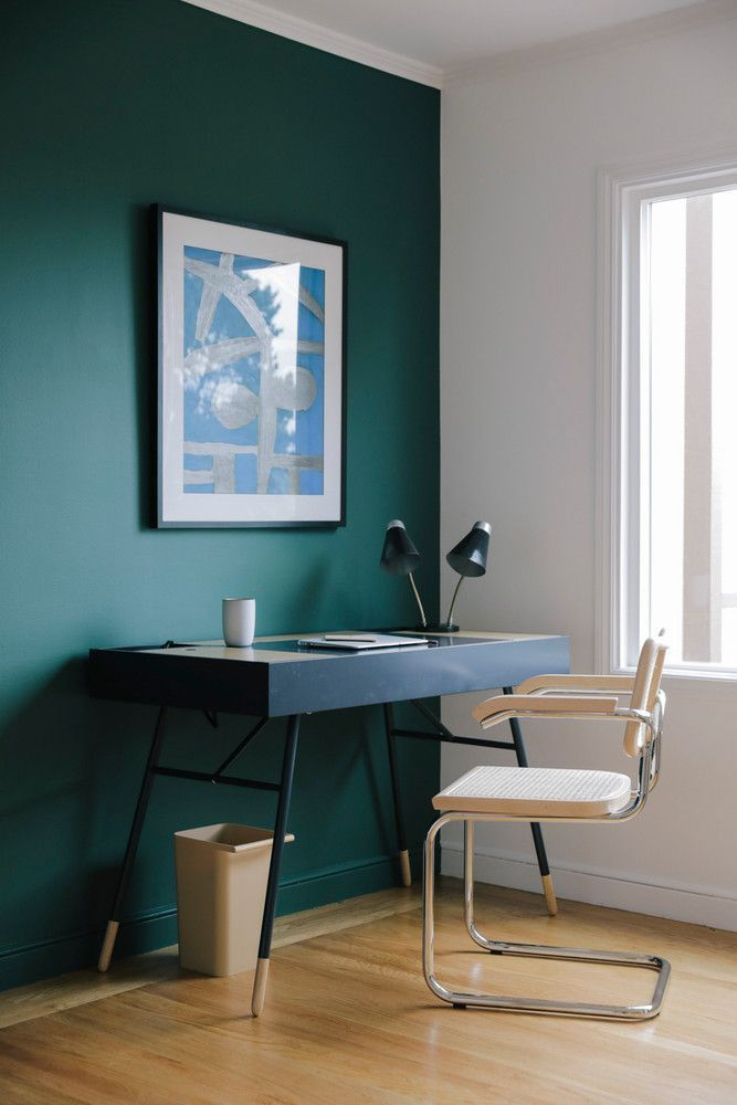 apartment 34 before after home renovation color palette on office accent wall color id=90181