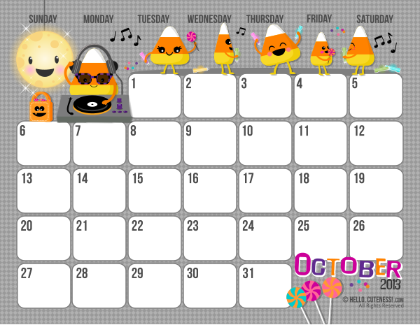 Just for Fun: Free Printable October Calendar | October 2013 ...