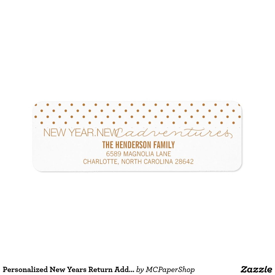 shop personalized new years return address label created by mcpapershop