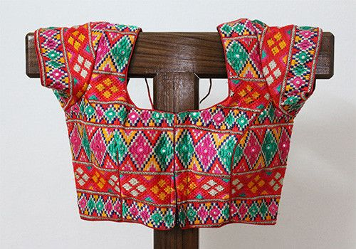 7a5ec88166 Colourful Embroidered Kutch Work Blouse – Desically Ethnic   Saree ...