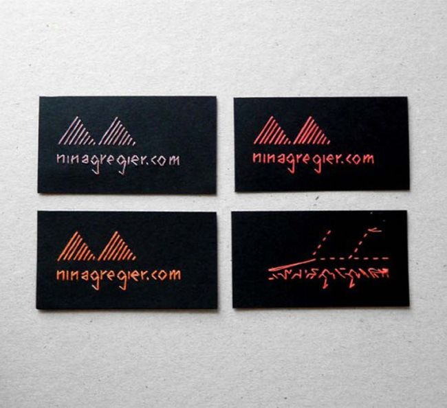 Embroidered Business Cards I Want These Possibly In Hot Pink