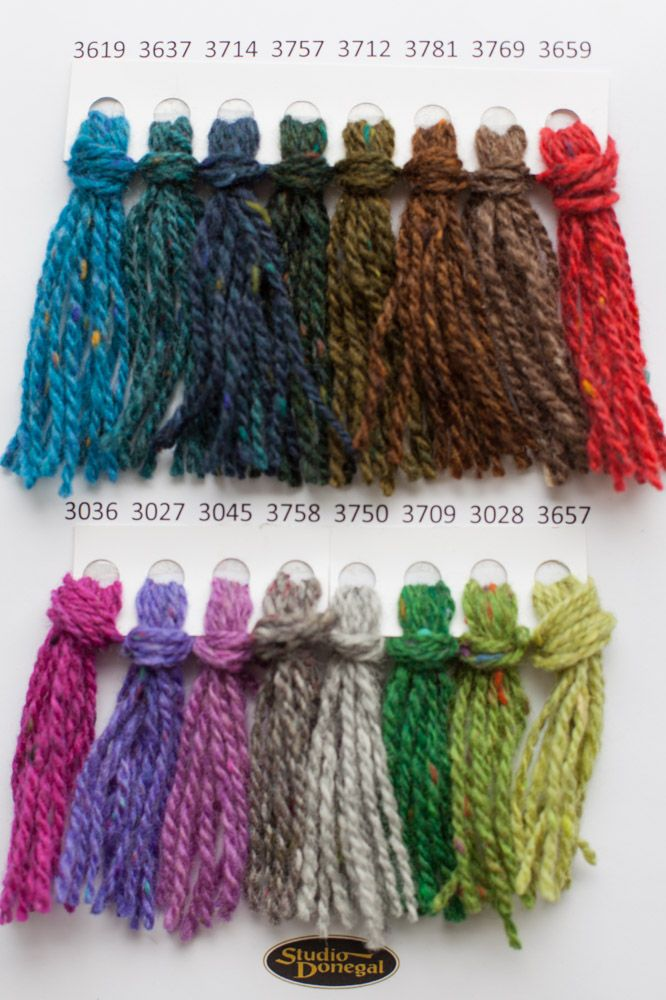 Wool available on line from Studio Donegal Soft Donegal