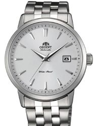 Orient Symphony Automatic Dress Watch with White Dial, Stainless Steel Bracelet #ER2700AW