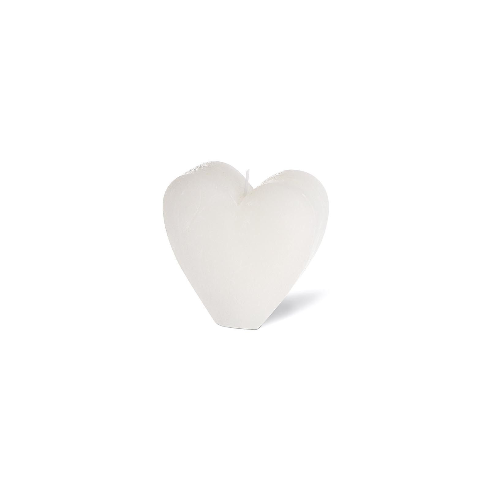 Kerze Herz weiß ca H:8 cm