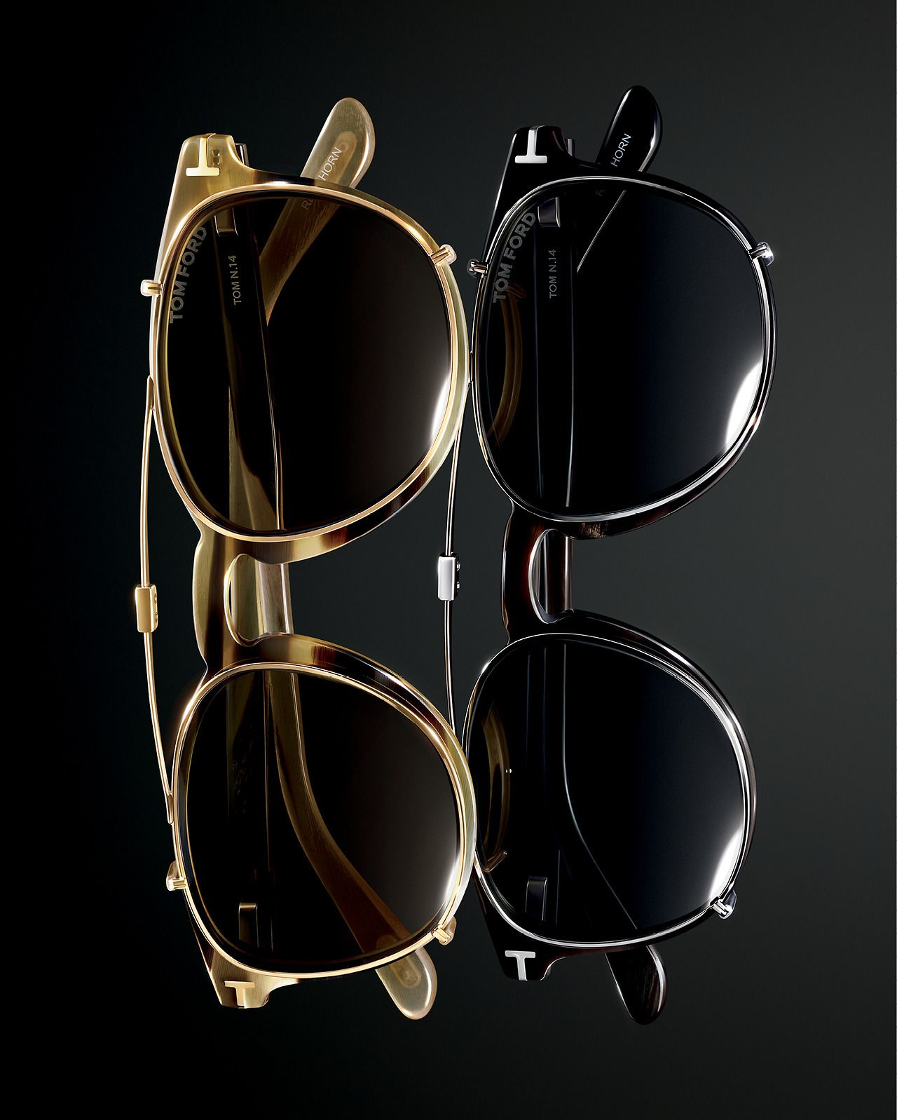TOM FORD - TOM N.14 features an optical frame with clip-on ...
