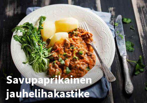 Savupaprikainen jauhelihakastike Resepti: Valio #kauppahalli24 #ruoka #resepti #jauhelihakastike