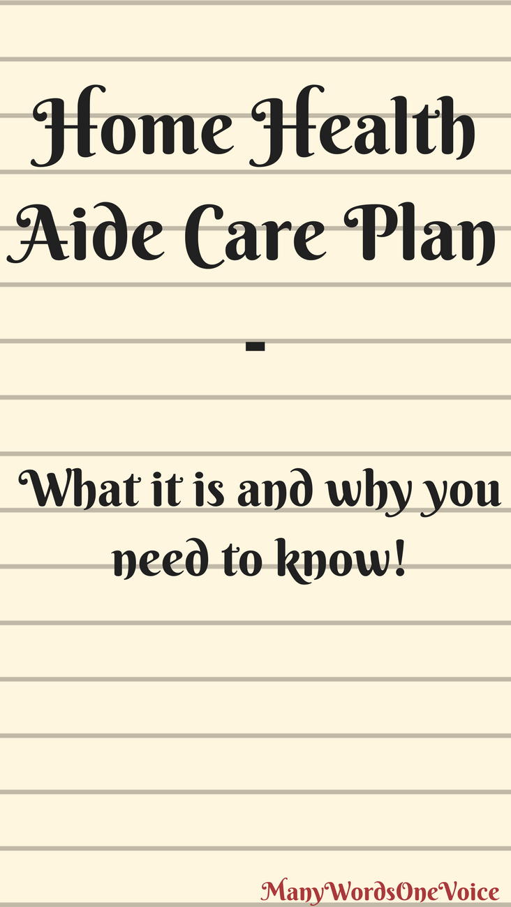 What Is A Home Health Aide Care Plan Home Health Aide Home