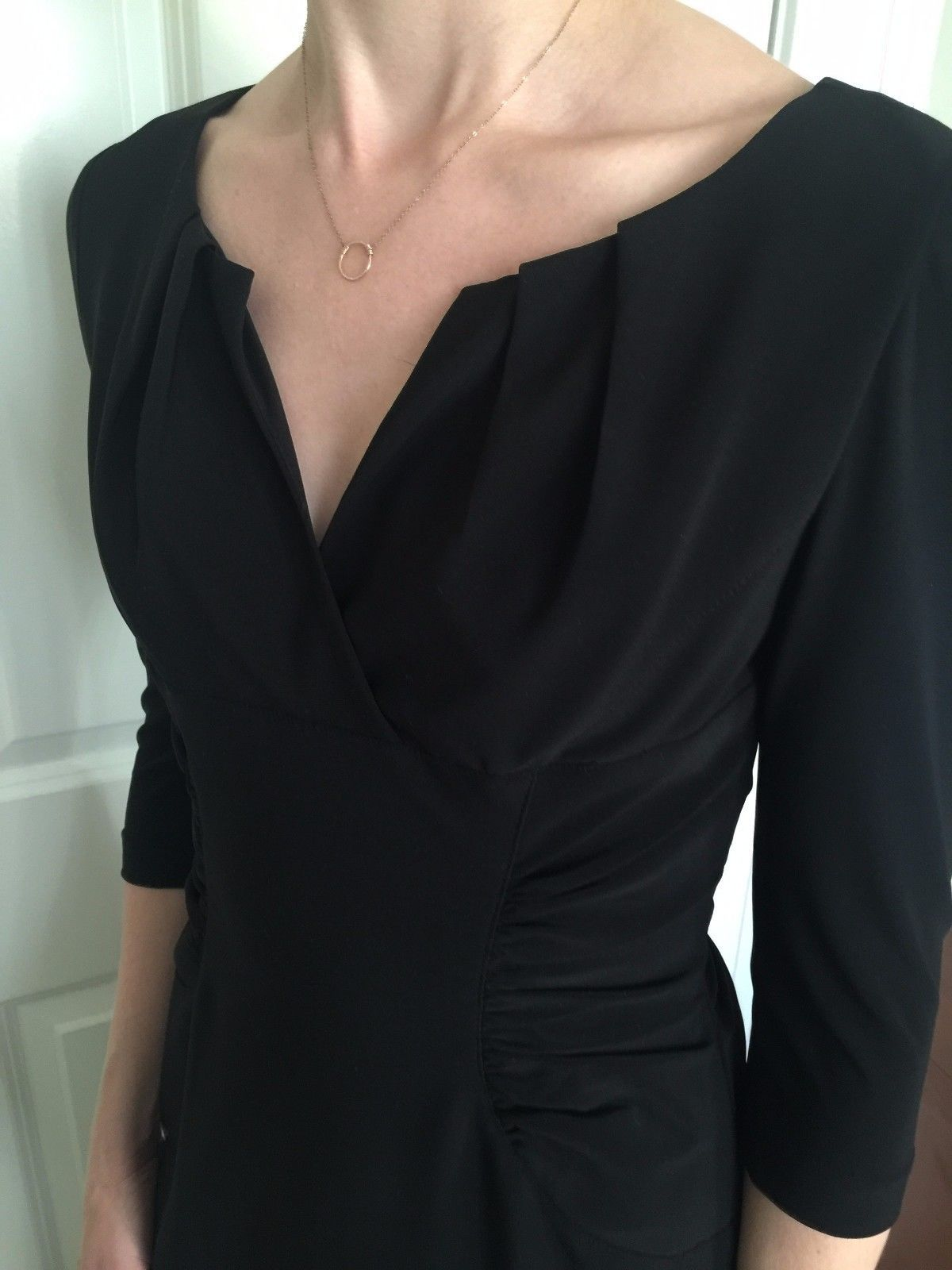 Cool amazing adrianna papell black cocktail work fitted long sleeve