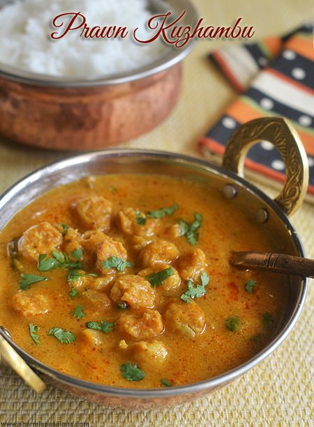 Prawn Kuzhambu Recipe South Indian Prawn Curry Cook It