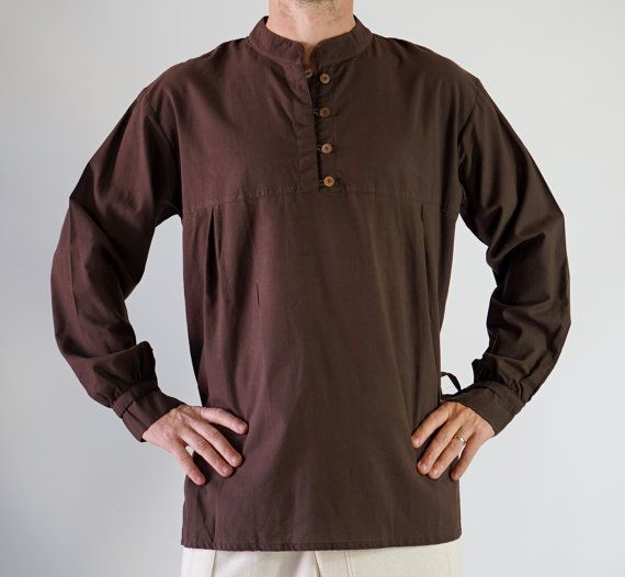 High Collared renaissance Shirt